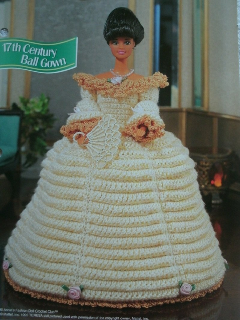 Amazon.com : Barbie or Fashion Doll 17th Century Ball Gown with ...