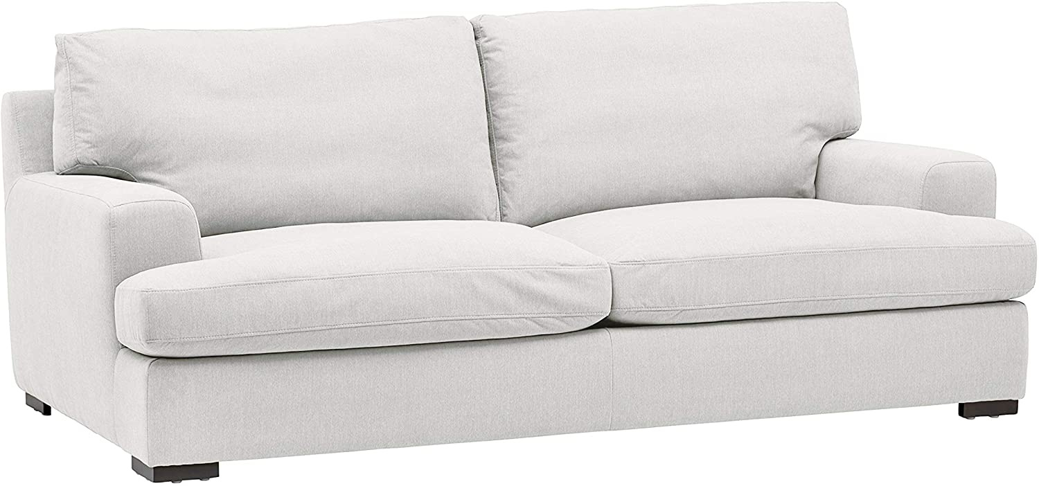 Amazon Brand – Stone & Beam Lauren Down-Filled Oversized Sofa Couch with Hardwood Frame, 89