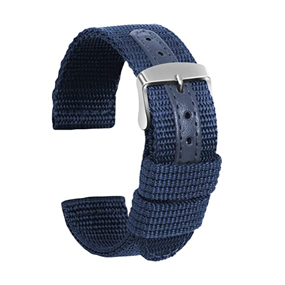Ullchro Nylon Correa Reloj Calidad Alta Lienzo Correa Relojes Militar del ejército - 18mm, 20mm, 22mm, 24mm Correa Reloj con Hebilla de Acero ...