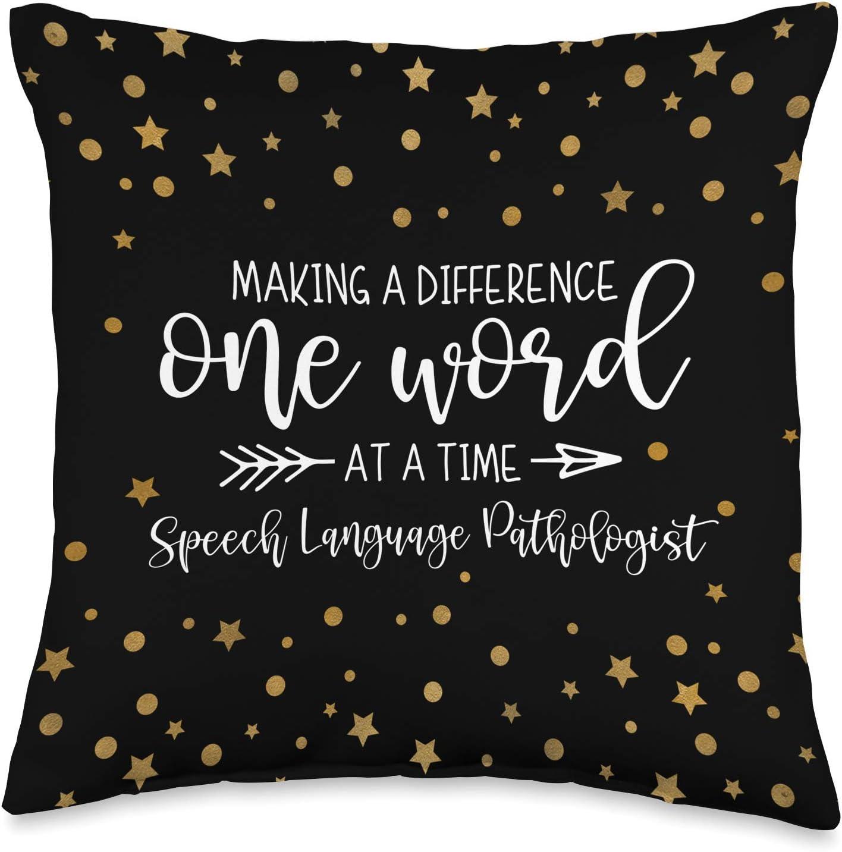 Speech Language Pathology Gift for Speech Therapist Throw Pillow