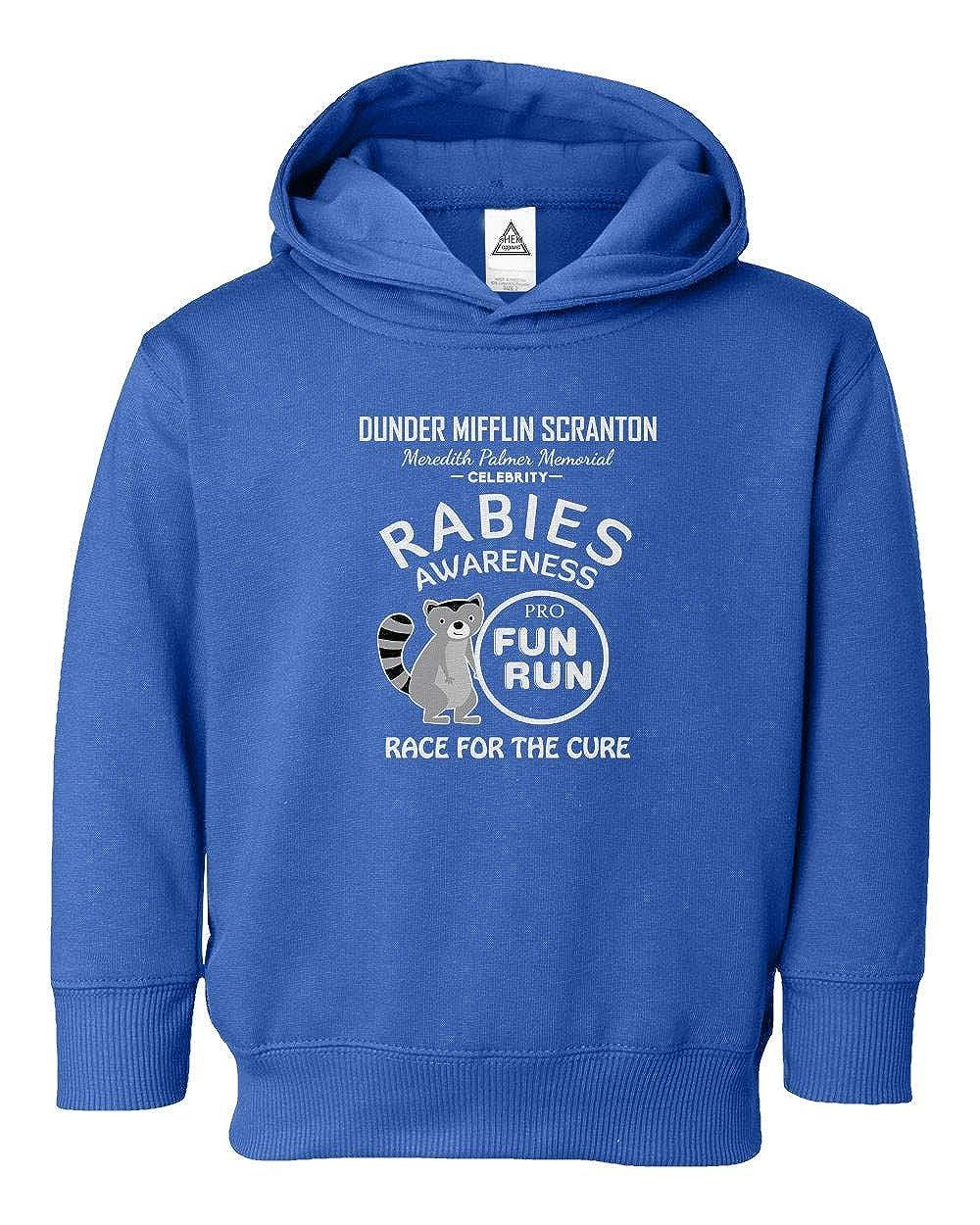Rabies Awareness Dunder Mifflin Fun Run Little Kids Hoodie Toddler Sweatshirt