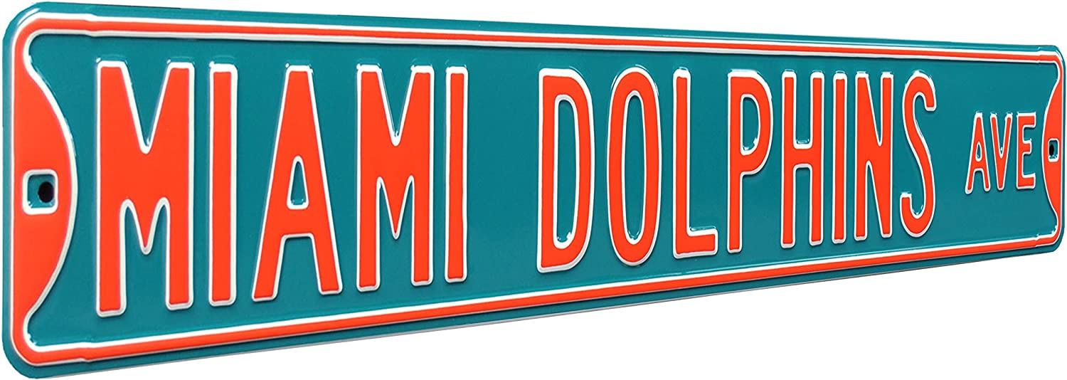 Fremont Die NFL Football Metal Wall Decor- Large, Heavy Duty Steel Street Sign, Vintage Home Decor for Office Decorations, Kids Room, and Man Cave Accessories