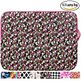 13.3 inch Laptop Sleeve Case Bag for Macbook Air 13 Pro Retina 13 Computer Bag for 13.3 Inch Tablet (Colorized Daisy)