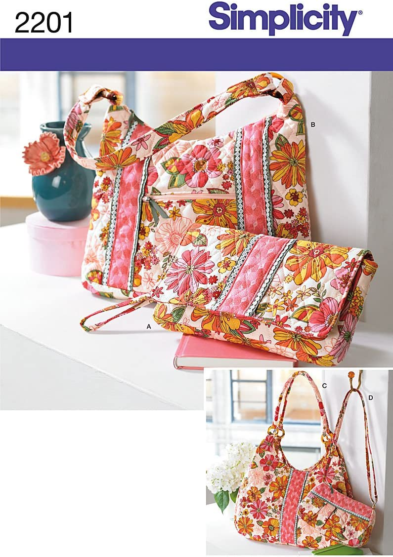 Simplicity Sewing Pattern 2201 Bags, One Size