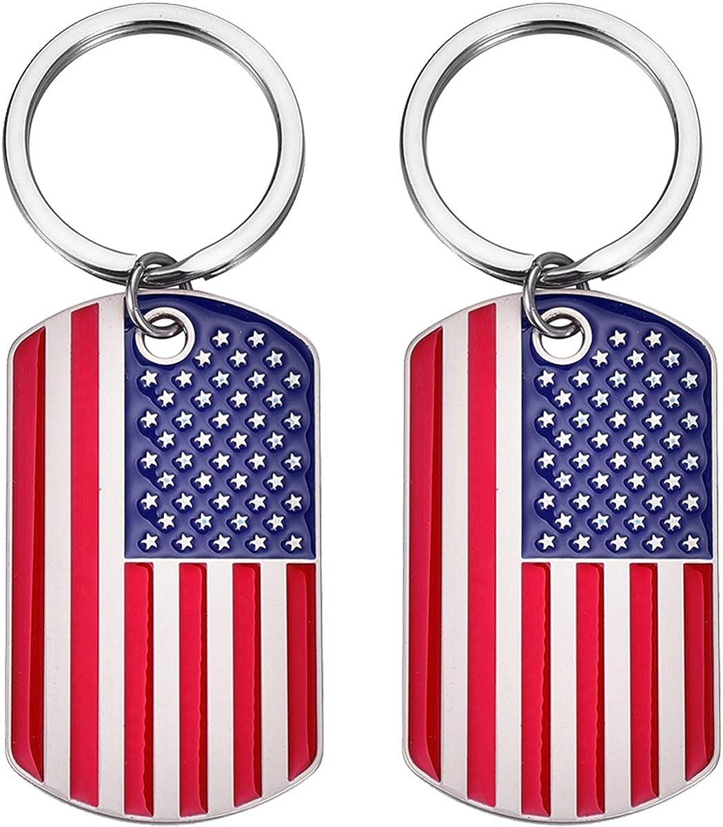 United States of America Flag Keyring