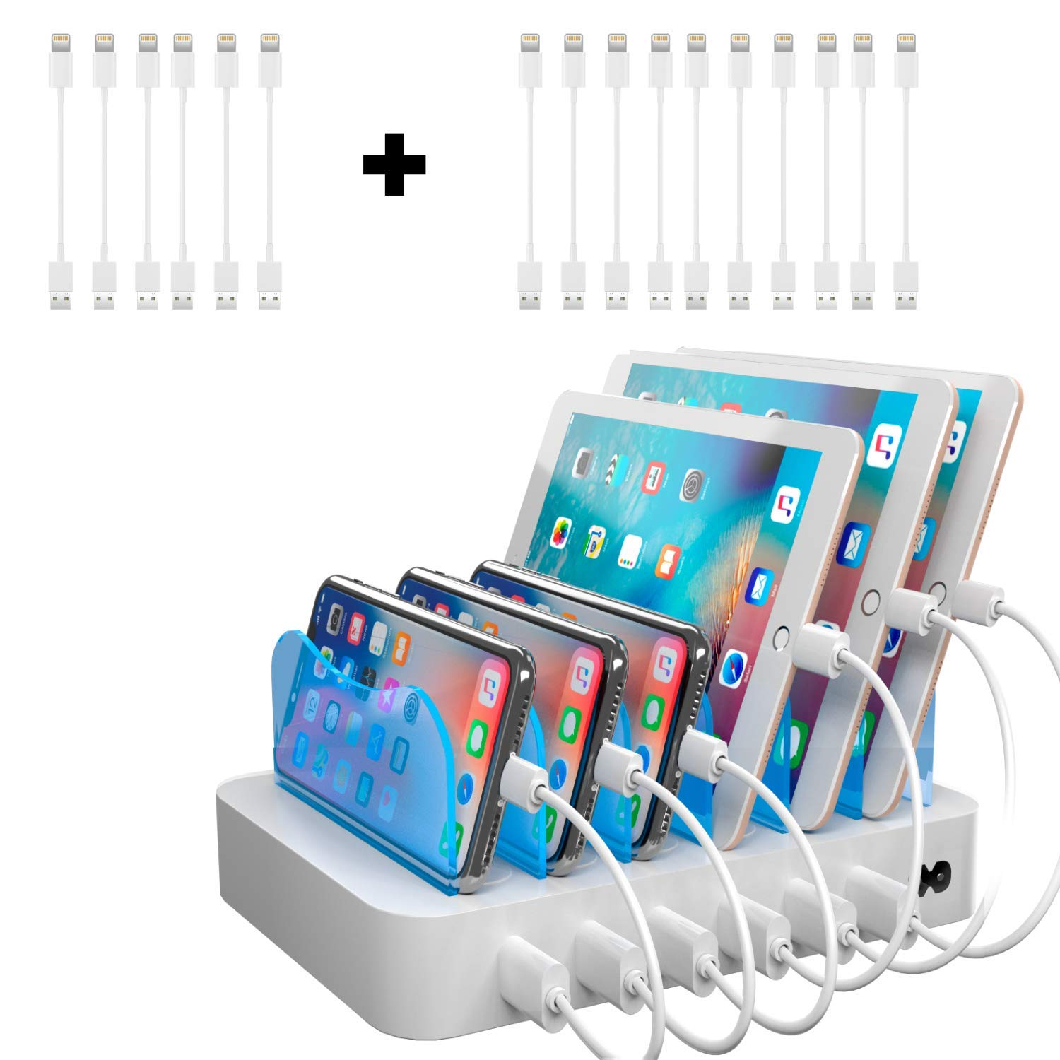 Hercules Tuff USB Charging Station for Multiple Devices for Los Products - 16 Short Cables - 5V/2A 50W (ETL Certified) by Hercules Tuff