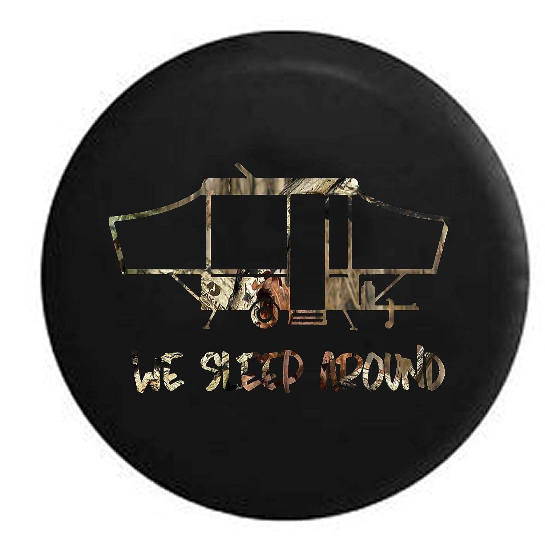 Stealth We Sleep Around PopUp RV Camper Spare Tire Cover OEM Vinyl Black 30 in Pike Outdoors