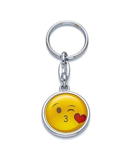 Llavero Emoji beso besito besar kiss emoticono cara feliz ...
