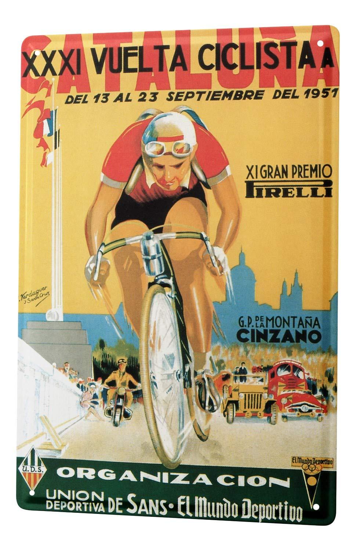 Plaque é maillé e Retro Dé co Course de vé lo Cataluna 1951 Leotie GmbH