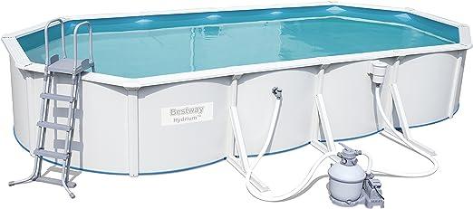 Bestway Hydrium Oval Juego de piscina con filtro de arena y ...