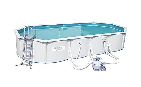 Bestway Hydrium Oval Juego de piscina con filtro de arena y accesorios