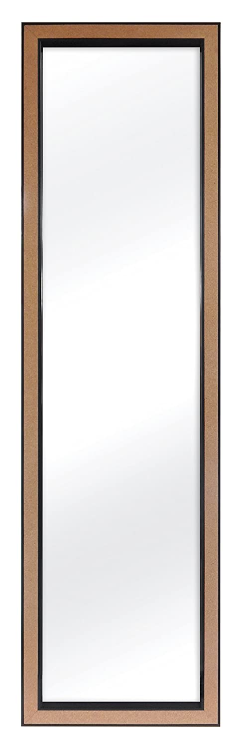 MCS Over The Door Mirror with Cork Edge, 12 by 48-Inch, Black MCS Industries 23794