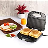 Cello Super Club 800 Watt Toast N Grill Sandwich Maker,Silver Black