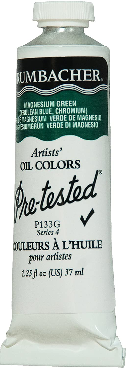 Amazon.com : Grumbacher Pre-Tested Oil Paint, 37ml/1.25 Ounce, Magnesium Green (P133G) : Art Paints : Office Products