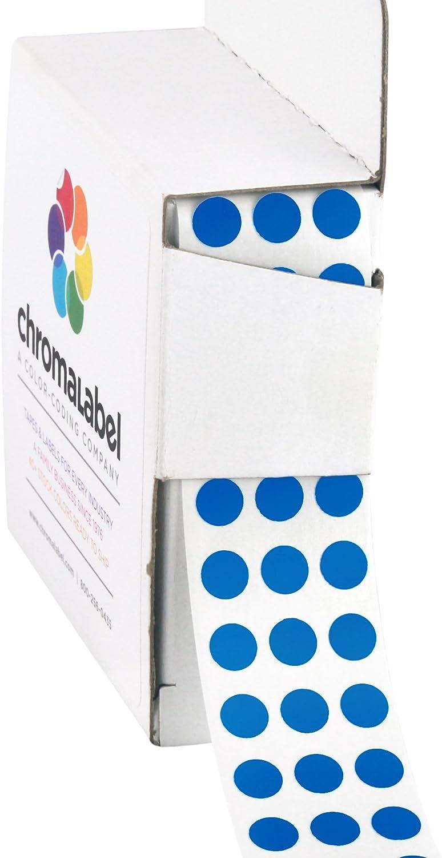 ChromaLabel 1/4 Inch Round Permanent Color-Code Dot Stickers, 1000 per Dispenser Box, Dark Blue