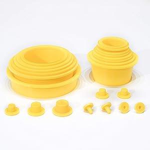 AutoLine Pro Automotive Cap Plugs Kit Assorted Premium Plastic Cap Plug Set for EVAP Smoke Machine Vacuum Leak Detection Seal