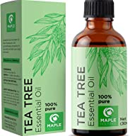 100% Pure Tea Tree Oil Natural Essential Oil with Antifungal Antibacterial Benefits for Face Skin Hair Nails Heal Acne Psoria
