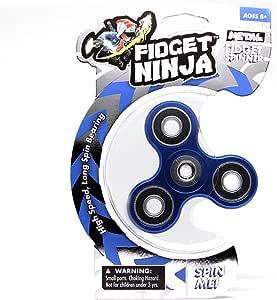 YoYo Factory Fidget Ninja Spinner de Metal - Azul: Amazon.es: Juguetes y juegos