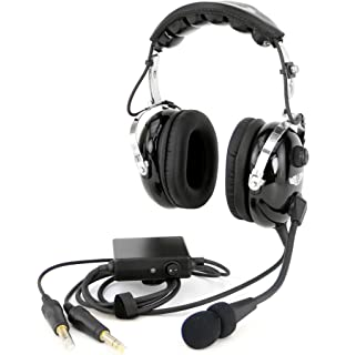 c3ef0348579 Rugged Air RA950 Stereo General Aviation Pilot Headset with Active Noise  Reduction Featuring Gel Ear Seals
