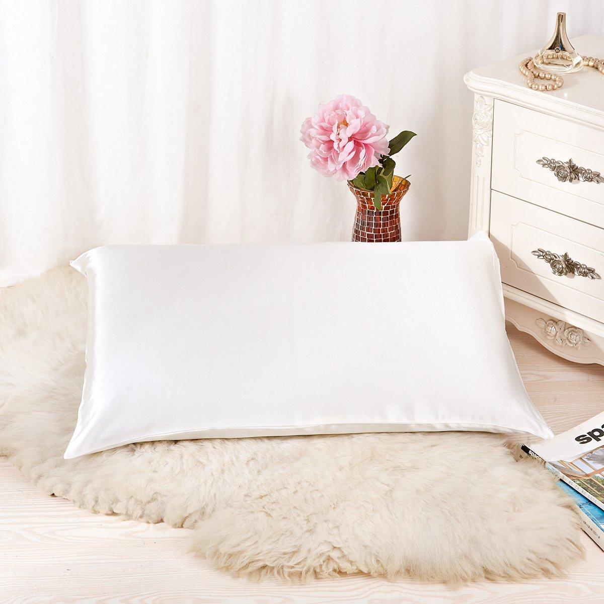 ALASKA BEAR Natural Silk Pillowcase for Hair and Skin 19 Momme 600 Thread  Count 100 Percent 232fea8d7d0f