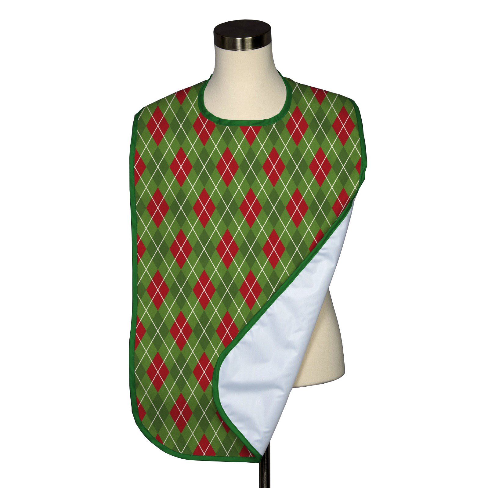 Christmas Argyle Adult Bib - Covered with Care - 5 Pack