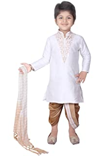 4e52bfd8a Long Kurta Dhoti Combo Sherwani Suit Pyjama Wedding Party Wear Boys Toddler Infant  Ethnic Cowl Pant