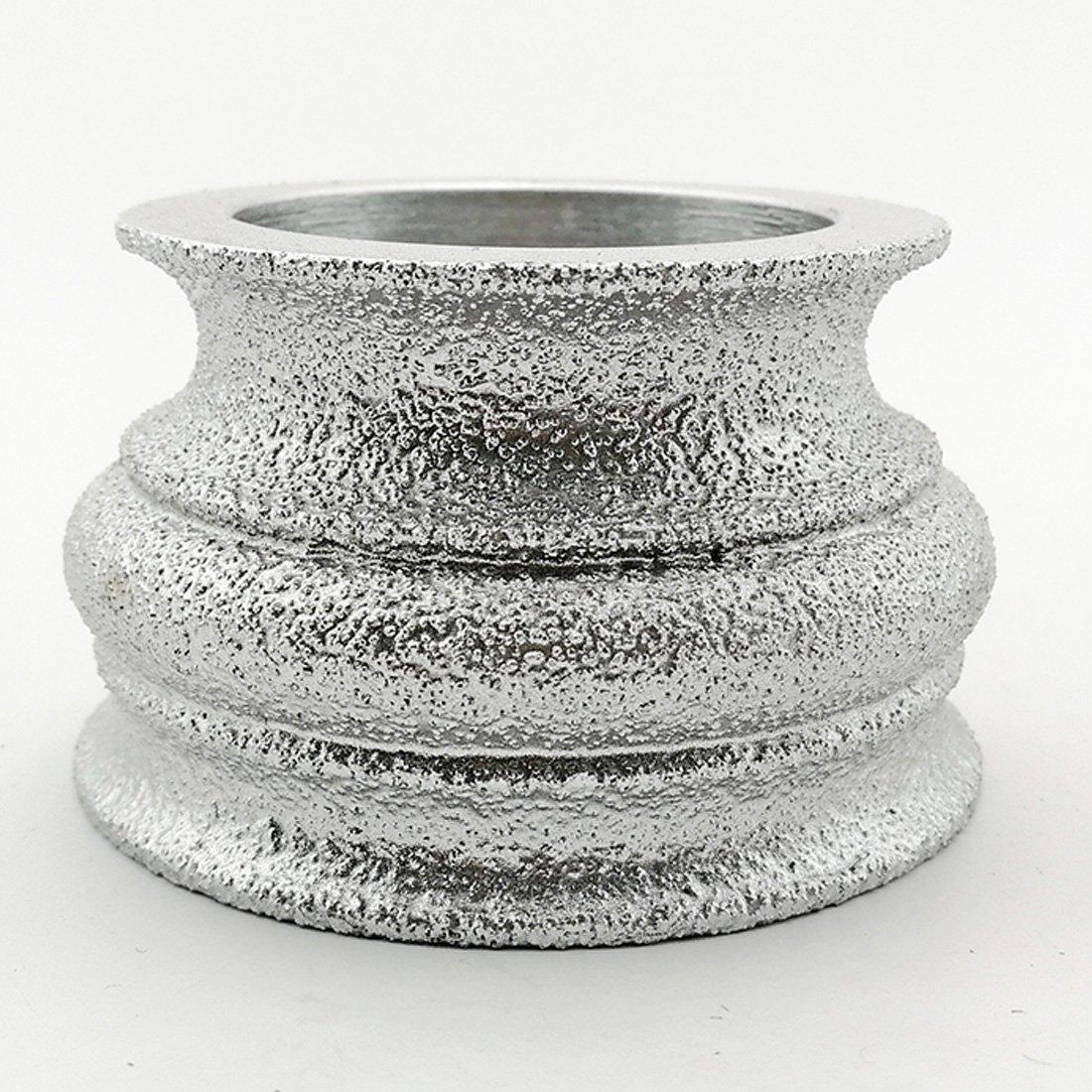 Altura del diamante 10 mm Rueda de diamante de mano de perfil de soldada al vac/ío DIATOOL Muela de diamante de 75mm Para Piedra