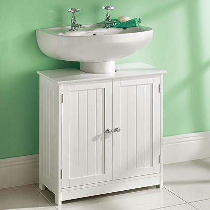 Taylor & Brown Meuble sous-vasque en bois pour salle de bains - Blanc