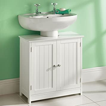 Miraculous Top Home Solutions Taylor Brown White Vanity Unit Wooden Under Sink Wash Basin Bathroom Cabinet Storage New Download Free Architecture Designs Sospemadebymaigaardcom