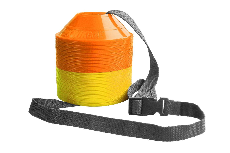 Kwik Goal Mini Disc Cone Kit (50-Pack), Yellow/Orange 6A1502