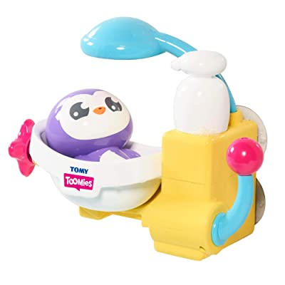 Toomies Peryn's Shower & Scrub Bath Toy, White/Purple/Blue: Toys & Games