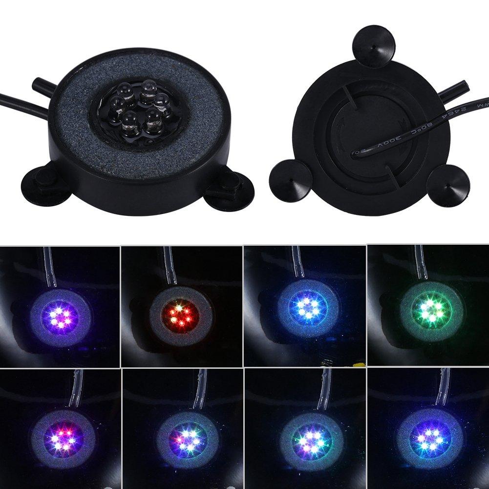 Luce dell'acquario illuminazione dell'Acquario Totalmente Impermeabile Lampada Subacquea Colorata a 6 LED Air Bubbles Luce Sommergibile per Decorazioni di Ossigenazione dell'illuminazione(220V) Garosa