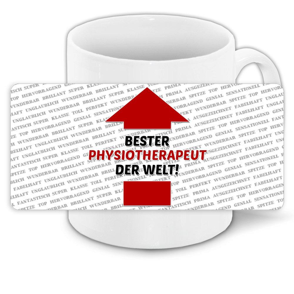 Tasse mit Spruch - Bester Physiotherapeut der Welt - und positiven  Eigenschaften: Amazon.de: Küche & Haushalt