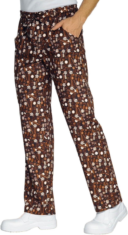 190 gr//m/² Chocolate S Isacco Pantalone con elastico Chocolate 100/% Cotone