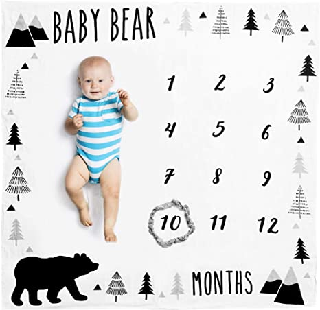 Boy Blankie Baby Boy Blanket Personalized Baby Boy Blankie Boy Milestone Blanket Monthly Baby Blanket Cloud and Stars Baby Blanket