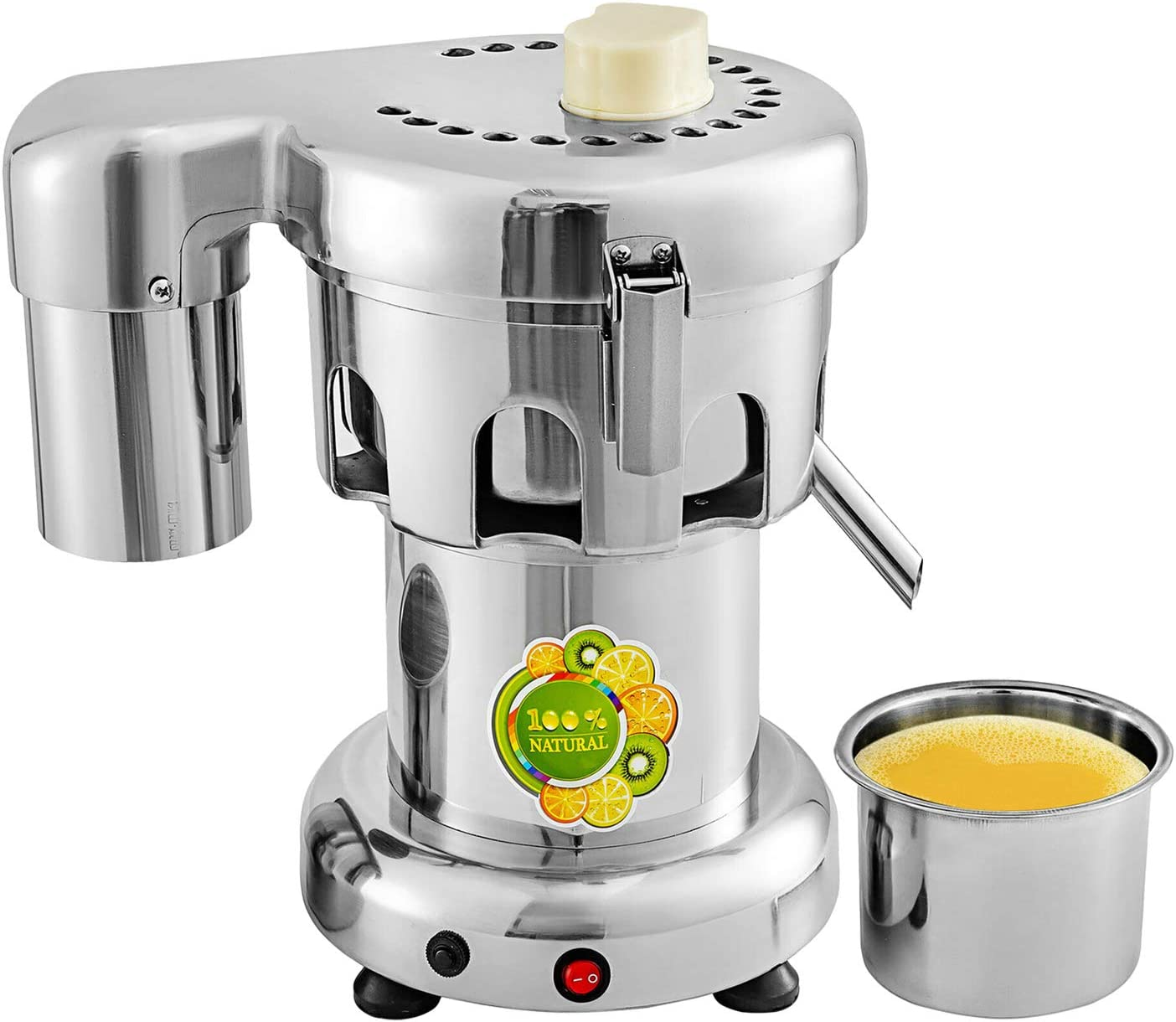 GorillaRock Juicer Machine | Fruit and Vegetables Juice Maker | Stainless Steel Blades | Commercial Juice Extractor | 110V