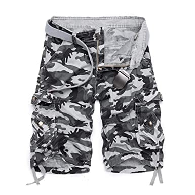 regarder fd104 3e8e6 Robert Reyna Fashionable Cargo Shorts Men Cool Military Camo ...
