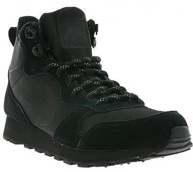 designer fashion d4cda ccb55 Nike Mens MD Runner 2 Mid Premium Shoe Black Size 8 ...
