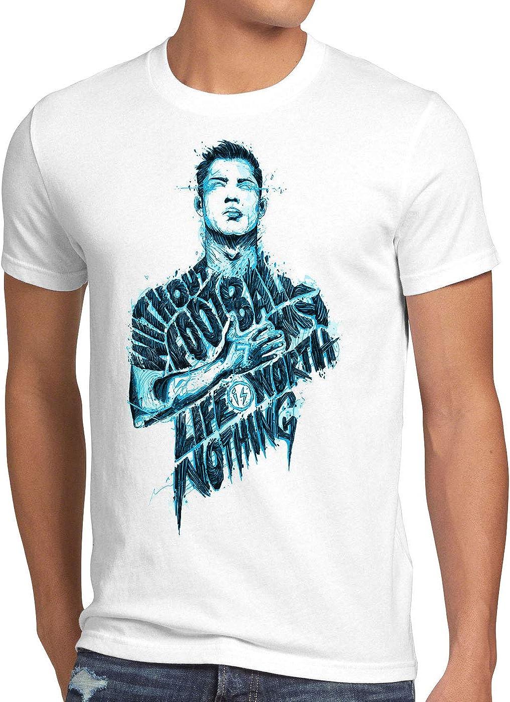 CottonCloud Football is Life Camiseta para Hombre T-Shirt españa fútbol Spain Blanco: Amazon.es: Ropa y accesorios