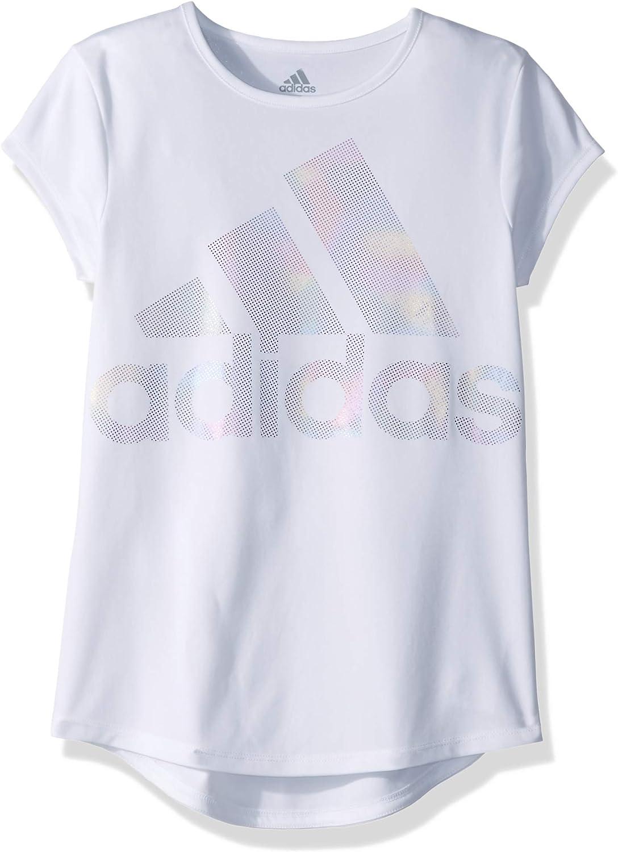 adidas Girls' Short Sleeve Scoop Neck Tee T-Shirt: Clothing