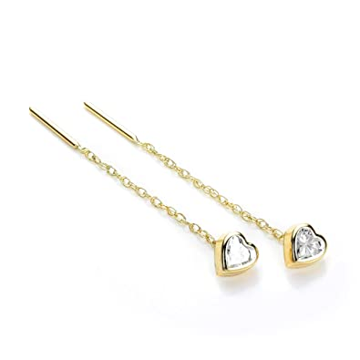 9ct Yellow Gold 3.5mm Garnet Gemstone Pull Thru Earrings/Studs SkhoN