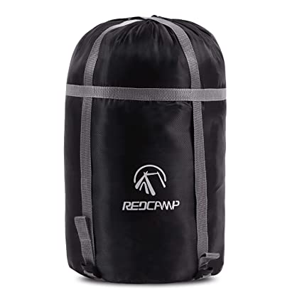 f523f12259a7 REDCAMP Sleeping Bag Stuff Sack, Black M, L, XL and XXL Compression Sack,  Great for Backpacking and Camping