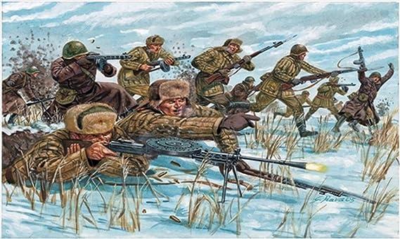 Italeri 6069S - Segundo La Primera Guerra Mundial Rusia Infantería (Uniformes de Invierno): Amazon.es: Juguetes y juegos