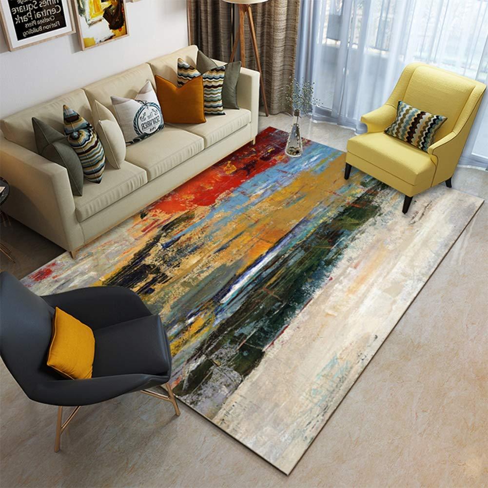 Ylmhe Estampado Abstracto Alfombra Interior Sala Estera Rect/ángulo 120x160cm