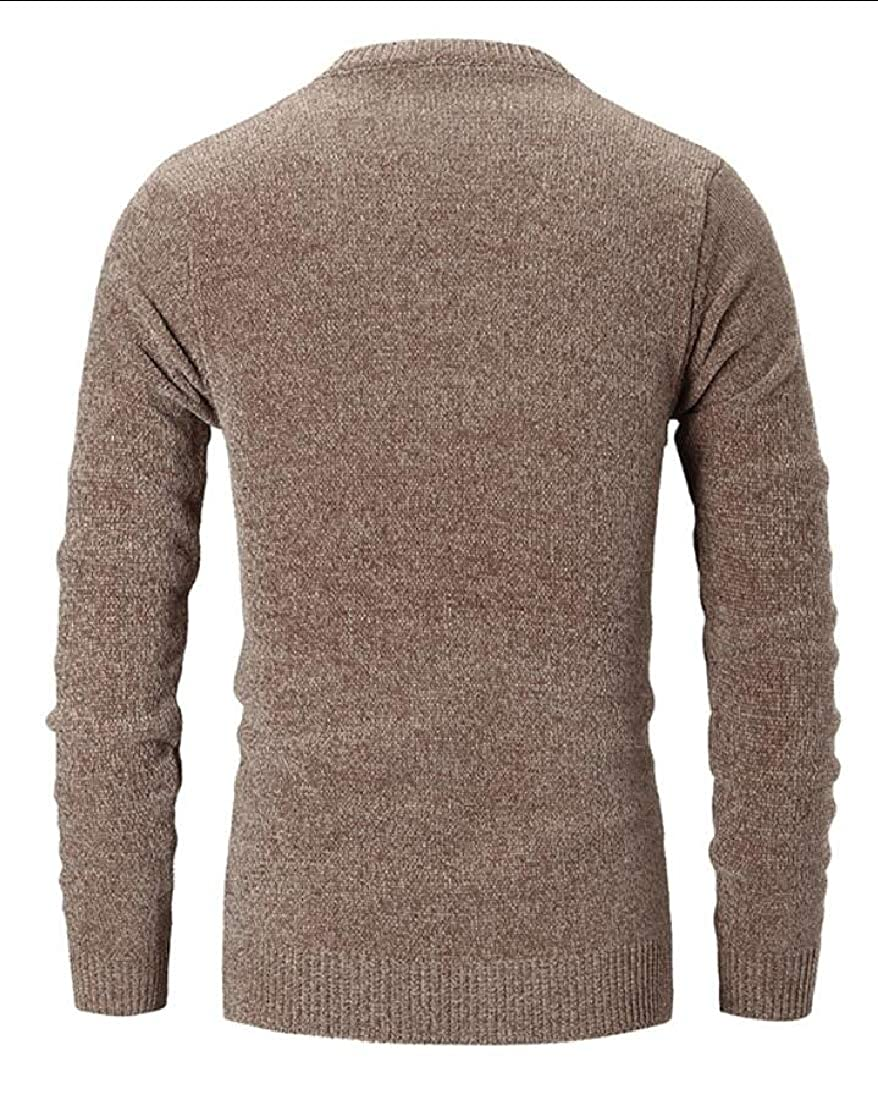desolateness Mens Casual Crew Neck Long Sleeve Pullover Sweater Tops
