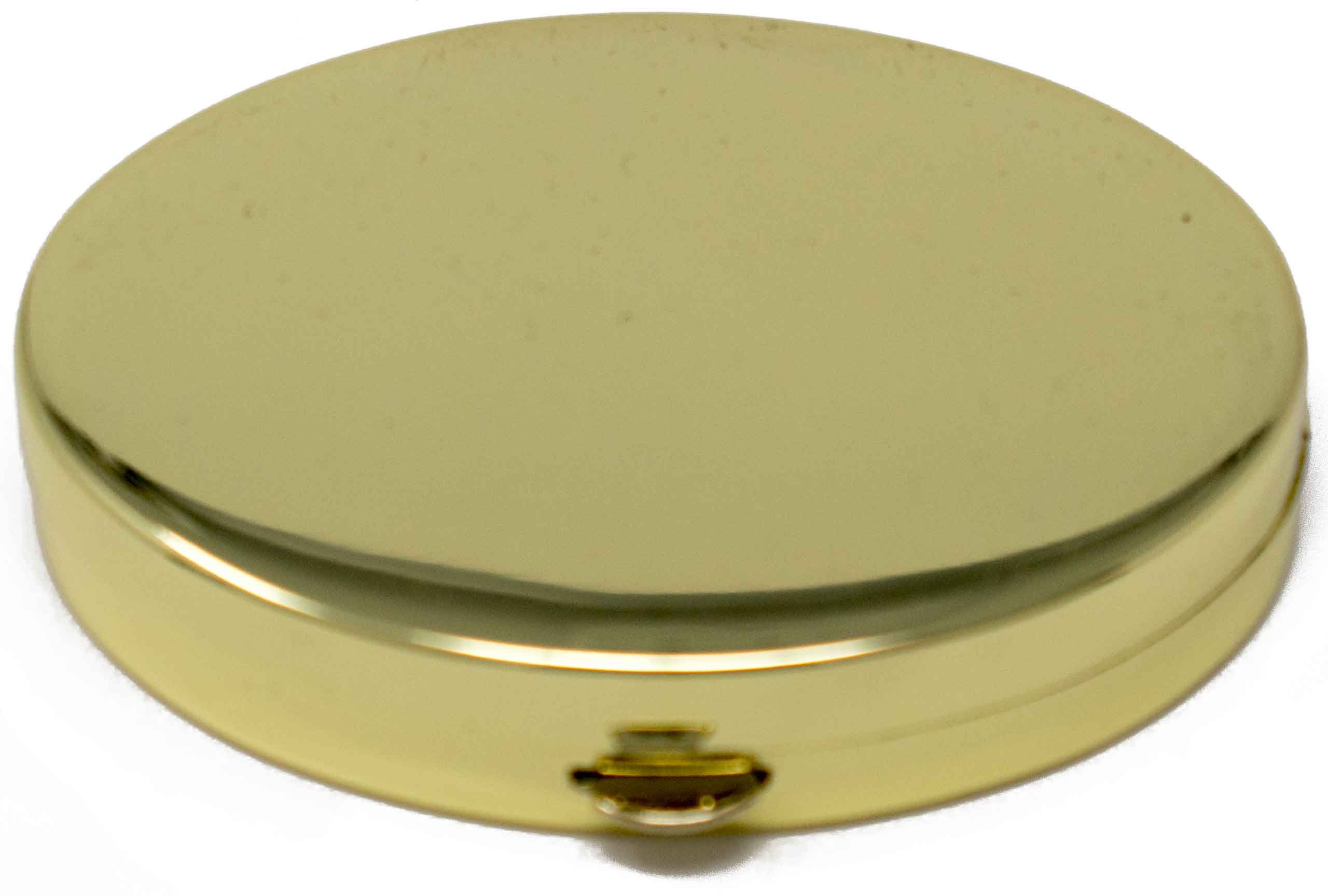 Gold Oval Pocket Purse Portable Pill Box (2 Compartments)