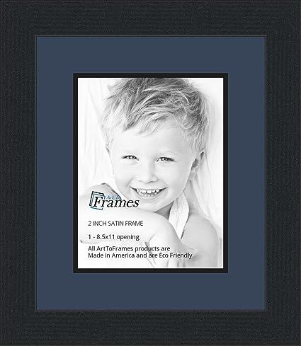 Amazon.com - 8.5x11 / 8.5 x 11 Picture Frame Satin Black .. 2\'\' wide ...
