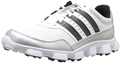 adidas Men's Crossflex Sport Golf ShoeWhite/Black/Metallic Silver,9 ...