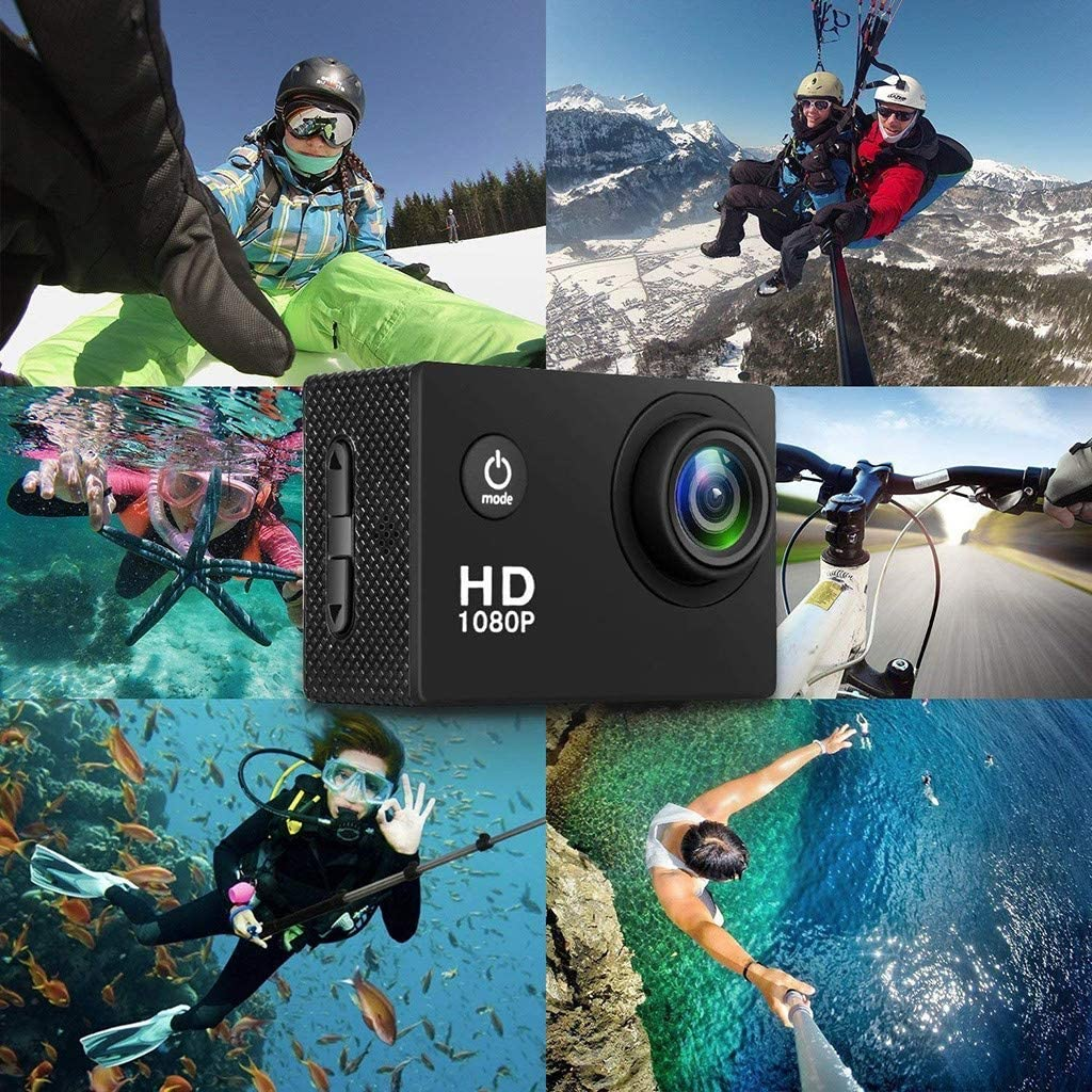 Sports Action Camera DVR Cam DV Video Camcorder MINGLIFE 2020 New Full HD 1080P Waterproof Digital Camera System