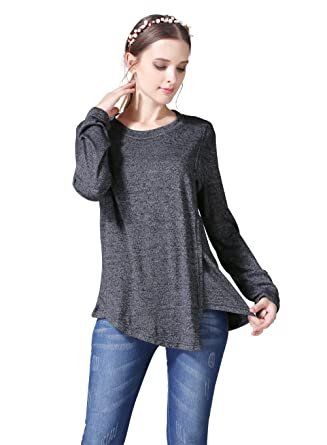 807be3ca06c39 Emotion Moms Long Sleeve Maternity Clothes Nursing T-Shirts Breastfeeding  Tops for Pregnant Women (